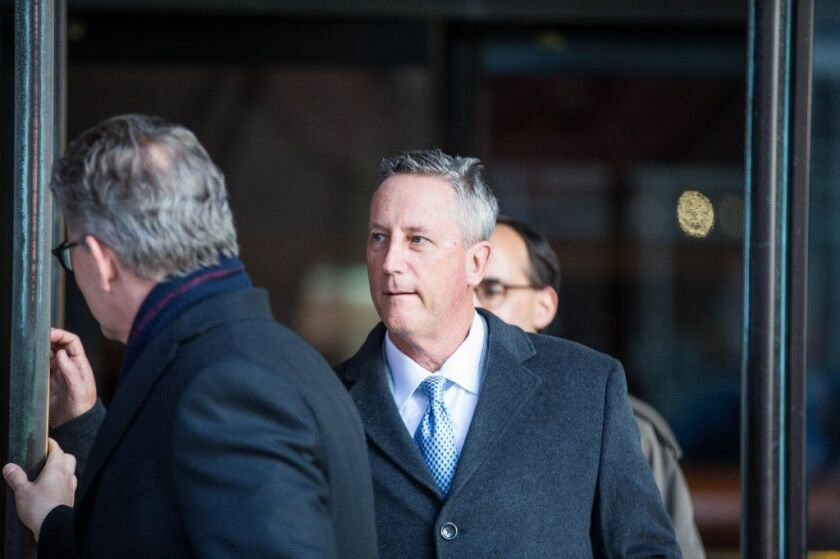 Martin Fox leaves a courtroom in Boston after his arraignment on March 25, 2019.