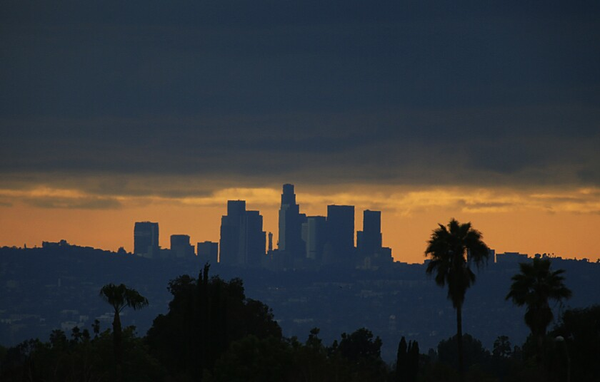 """Mayor's vision for a more """"sustainable"""" L.A. includes more electric cars and better air quality in poor neighborhoods."""