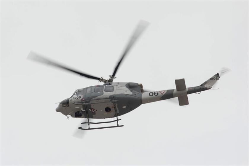 Un helicóptero con 12 miembros de la Armada cayó a las aguas del Alto Golfo de California en un accidente que dejó dos heridos y un desaparecido, informó hoy esa dependencia del Gobierno de México. EFE/ARCHIVO