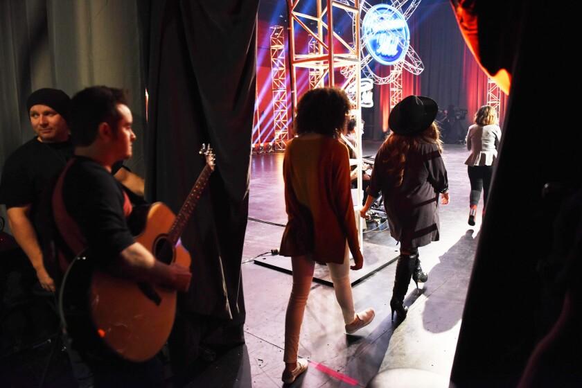 Contestants during Hollywood Week of 'American Idol'