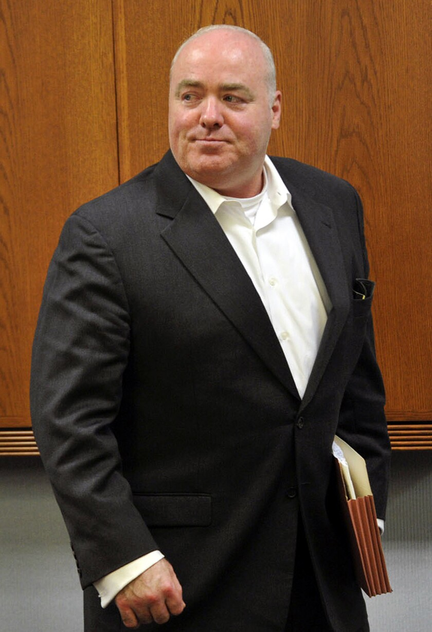In this April 30, 2013 file photo, Michael Skakel leaves the courtroom after the conclusion of trial regarding his legal representation at State Superior Court in Vernon, Conn.