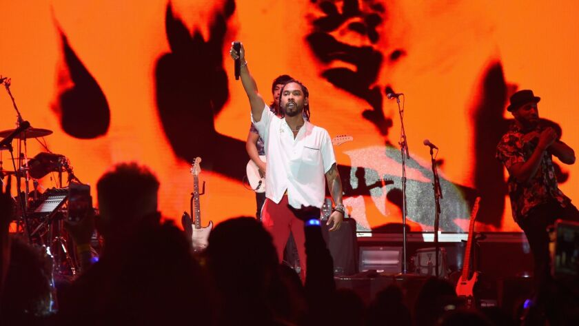 Singer-songwriter Miguel performs at the Annenberg Space for Photography in Century City.