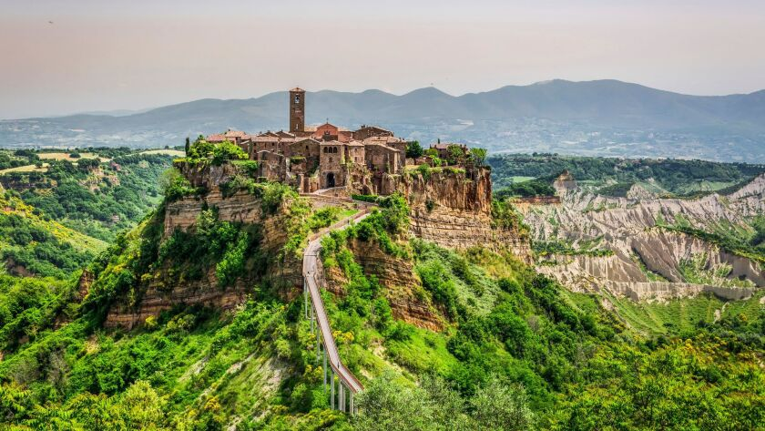 View of the old Italian town of Bagnoregio.