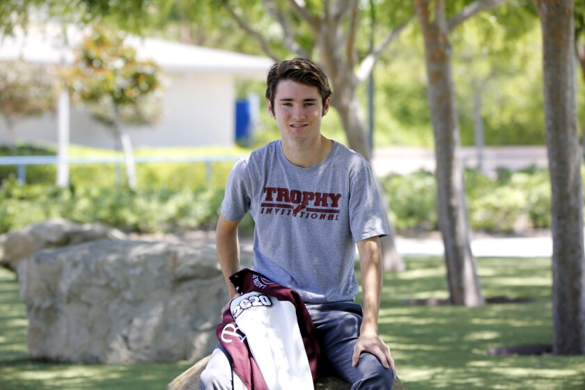 Laguna Beach distance runner Logan Brooks was named the Sunset Conference Wave League Male Athlete of the Year.