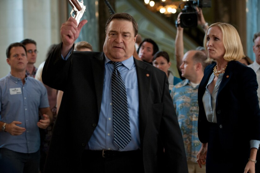 Amazon launches the second season of its Beltway comedy 'Alpha House,' co-created by Garry Trudeau and costarring John Goodman