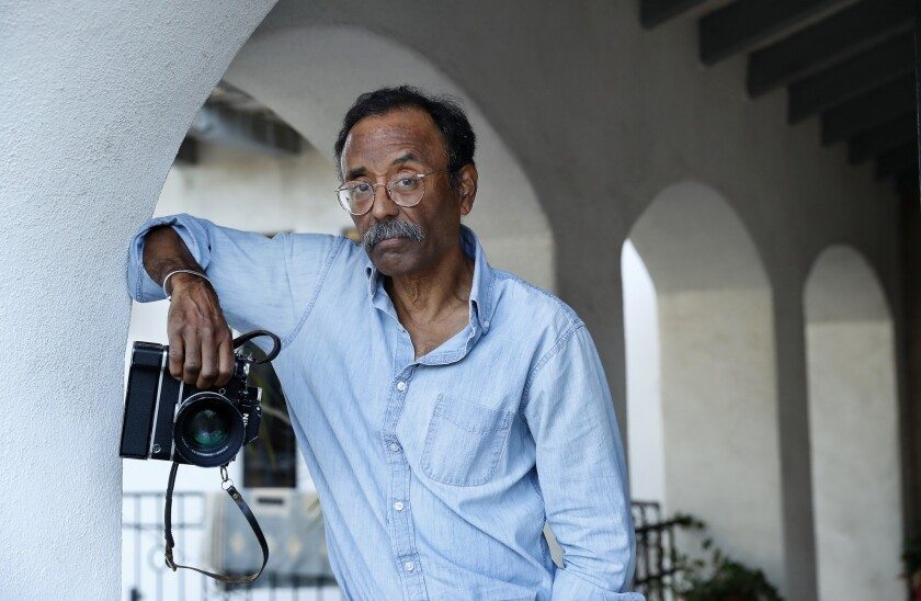 LOS ANGELES, CA-OCTOBER 31, 2018: Photographer Bruce Talamon is photographed at his home in Los Ang