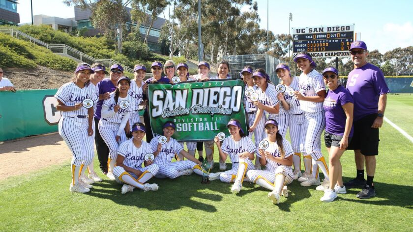 San Diego Division 3 high school softball championships played at UCSD.El Capitan Vaqueros vs EC Southwest Eagles