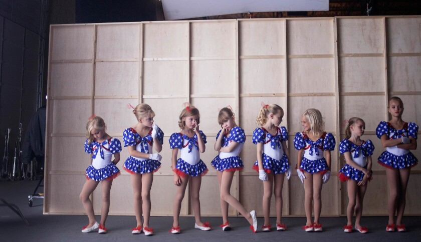 Danika Toolson, Emma Winslow, Elle Walker, Aeona Cruz, Hannah Cagwin, Liv Bagley, Shylee Sagle and Nicole Hamilton appear in 'Casting JonBenet' by Kitty Green, an official selection of the U.S. Documentary Competition at the 2017 Sundance Film Festival.