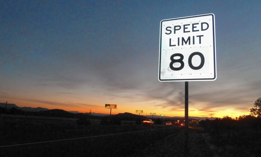 Utah officials say highway crashes have actually dropped on stretches of rural Interstate 15 where they bumped the speed limit up to 80.