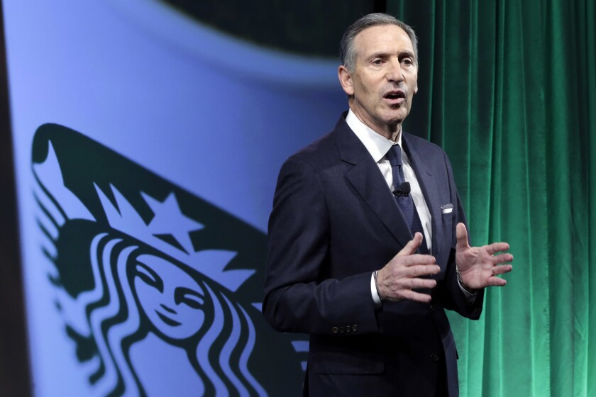 Starbucks says it will hire 10,000 refugees over the next five years, a response to President Donald Trump's indefinite suspension of Syrian refugees and temporary travel bans that apply to six other Muslim-majority nations. Schultz said in a letter to employees Sunday, Jan. 29, 2017, that the hiring would apply to stores worldwide.