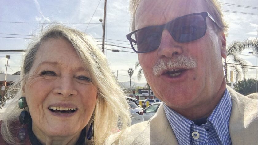 Angie Dickinson and the columnist after a recent lunch: Yeah, we're an odd couple, self-medicating w