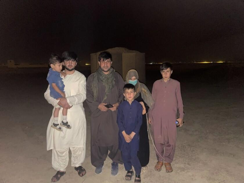 Mohammad Khalid Wardak and his family