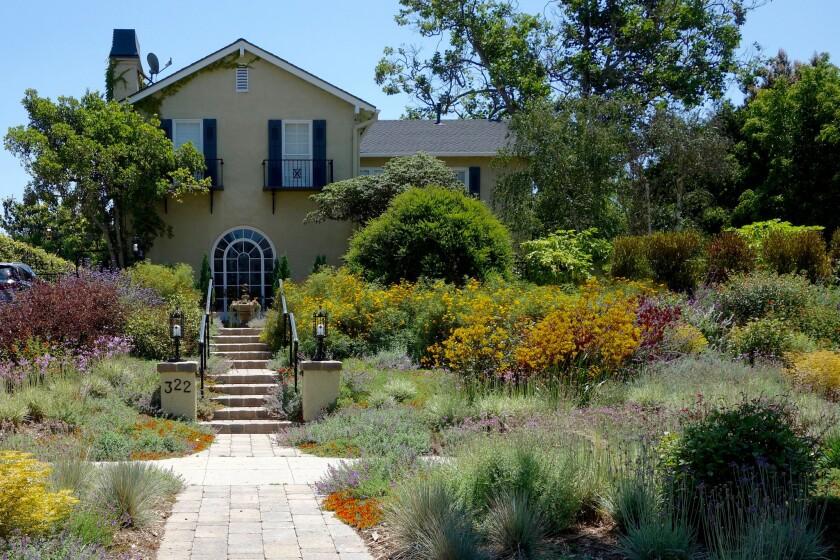 A garden makeover transformed the approach to David Zabel's Hancock Park home.