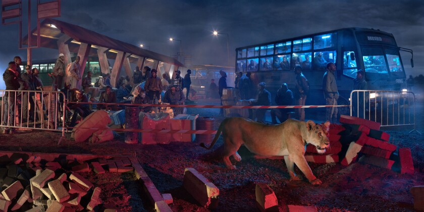 """""""Bus Station with Lioness"""""""