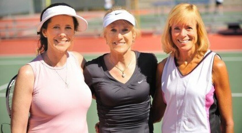 Carlie Headapohl, Tracy Austin, Diana Clark (Photo/Jon Clark)