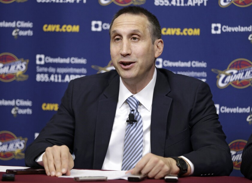 New Cleveland Coach David Blatt will have returning superstar LeBron James on his roster next fall.