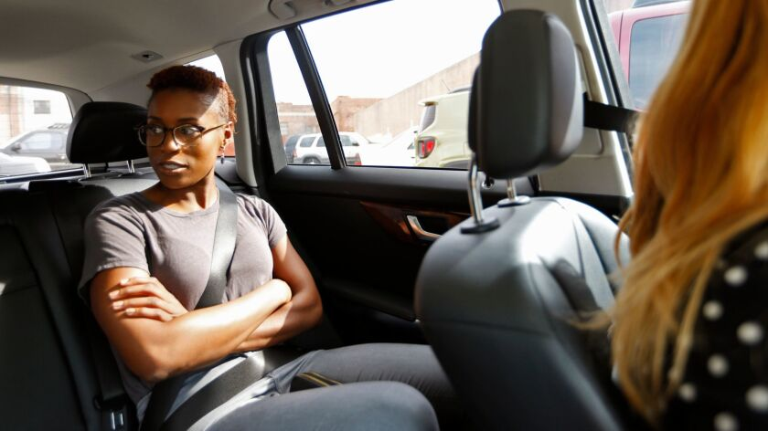 """""""Insecure"""" creator Issa Rae takes a ride through the streets of Inglewood, which is featured in her HBO show."""