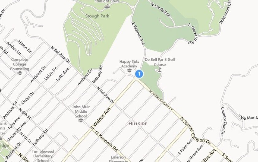A map shows the approximate location where human remains were discovered Tuesday near the Stough Nature Center.