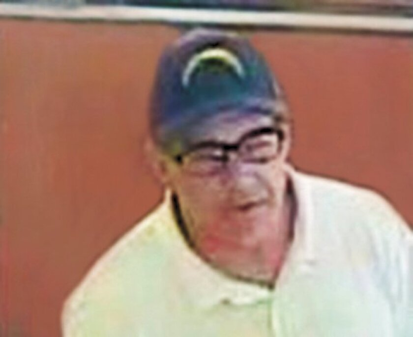"This suspect, referred to as the ""Hills Bandit,"" attempted to rob the Union Bank on Girard Avenue in the Village of La Jolla on Sept. 8, 2014."