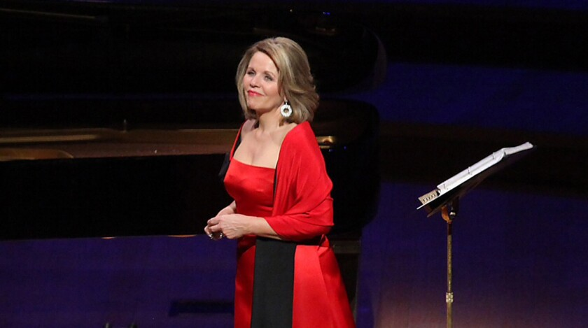 Renee Fleming, shown in a 2013 recital at the Walt Disney Concert Hall in downtown Los Angeles, will perform in the new Festival of the Desert.