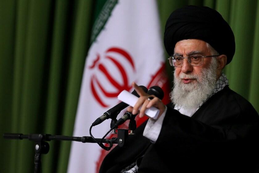 Iran's supreme leader Ayatollah Ali Khamenei speaks at a ceremony in Tehran on Nov. 25.