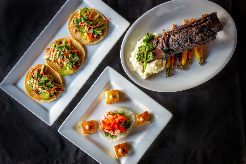 A selection of new dishes on the menu at the rebranded Social Tap San Diego.