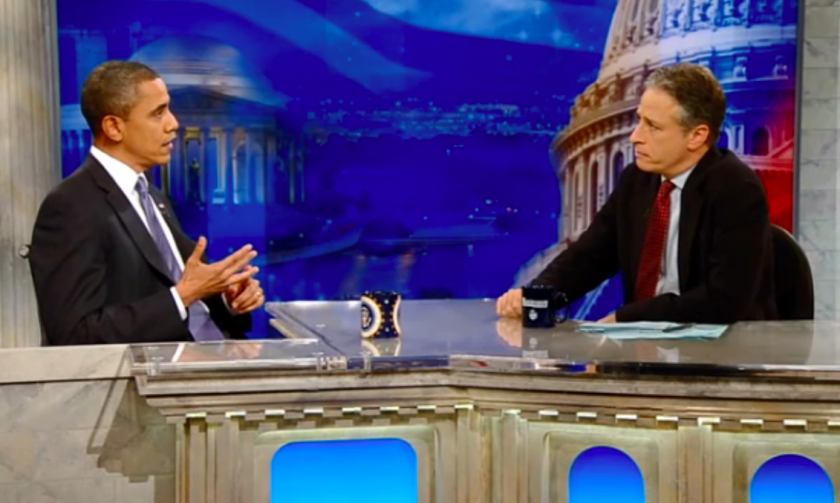 "President Obama appeared on ""The Daily Show"" in 2010."