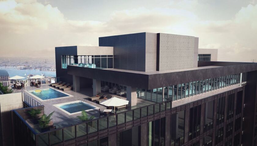 A pool and spa will be located on the 33rd floor.