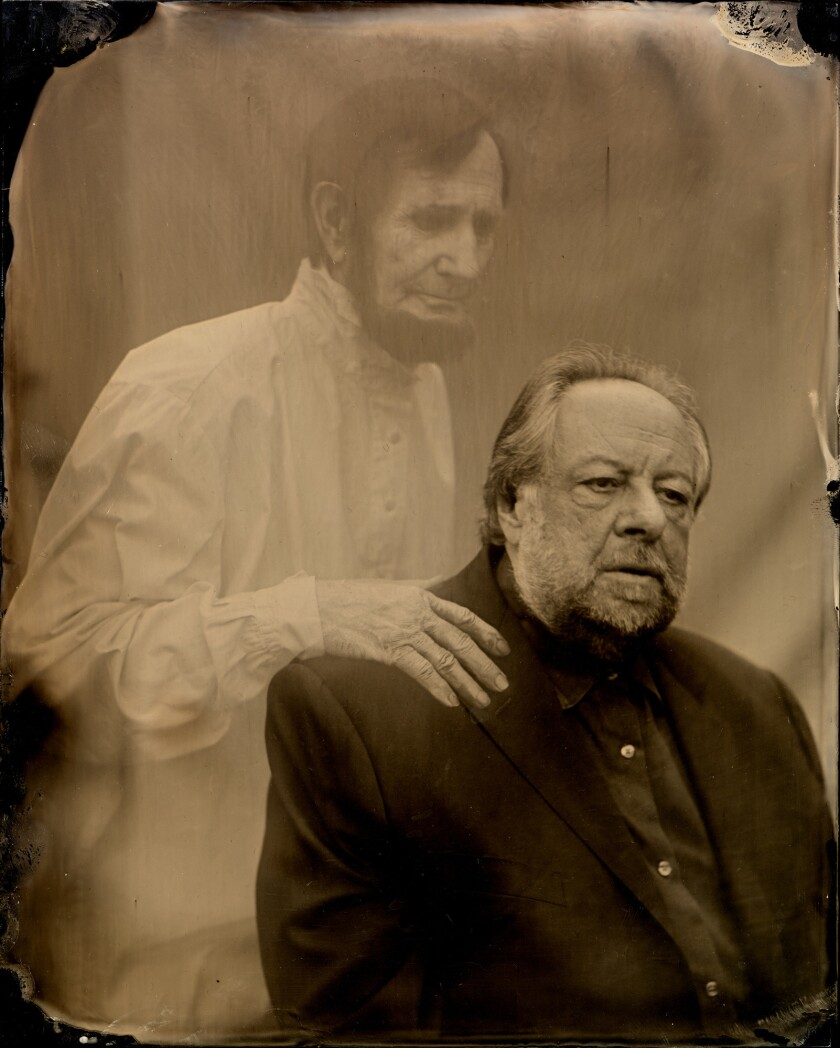 Ricky Jay and Mentor, photo by Stephen Berkman. Photo from the movie press kit: Deceptive Practice: