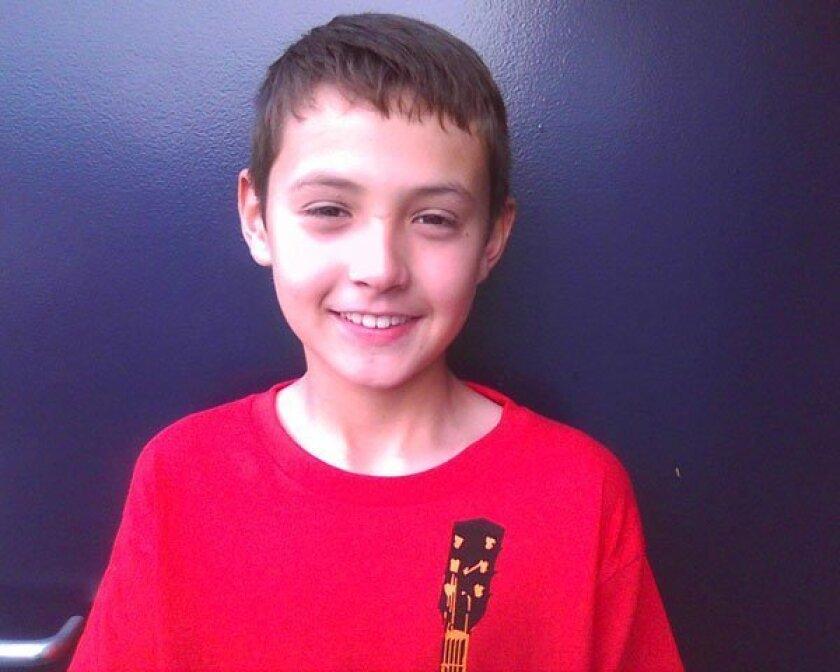 Bird Rock Elementary School fifth grader Raul Jackson. Photo: Courtesy