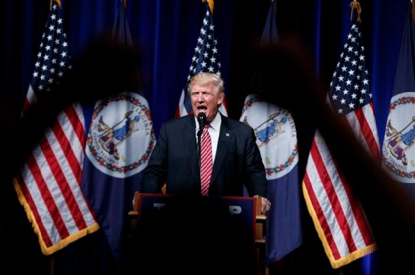 El candidato presidencial republicano Donald Trump habla en un acto en Ashburn, Virginia, 2 de agosto de 2016. (AP Foto/Evan Vucci)