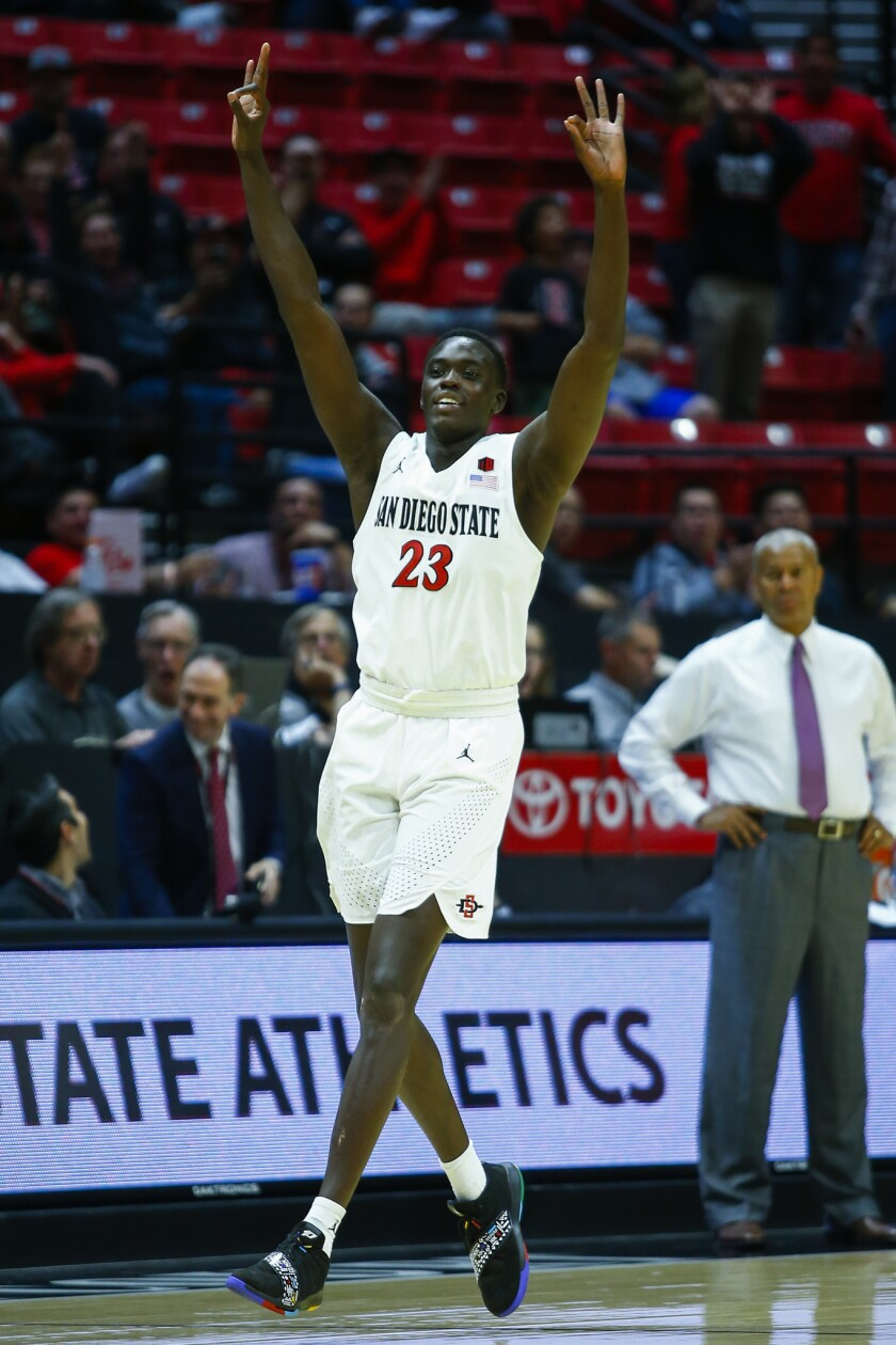 SDSU freshman Ed Chang, shown here against Texas Southern, announced that he will transfer.