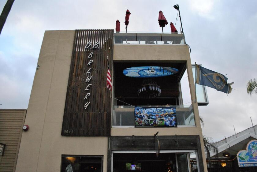 OB Brewery is lcoated at 5041 Newport Ave., Ocean Beach.