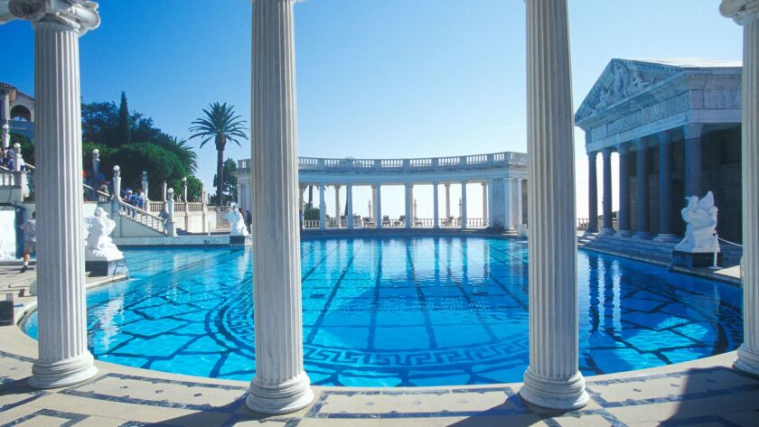 Neptune Pool at Hearst Castle, San Simeon, Central Coast, California (Photo by Visions of America/UI
