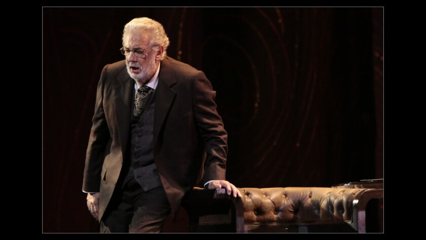 LOS ANGELES, CA. SEP. 11, 2014. Placido Domingo as Giorgio in the dress rehearsal of LA Opera's new