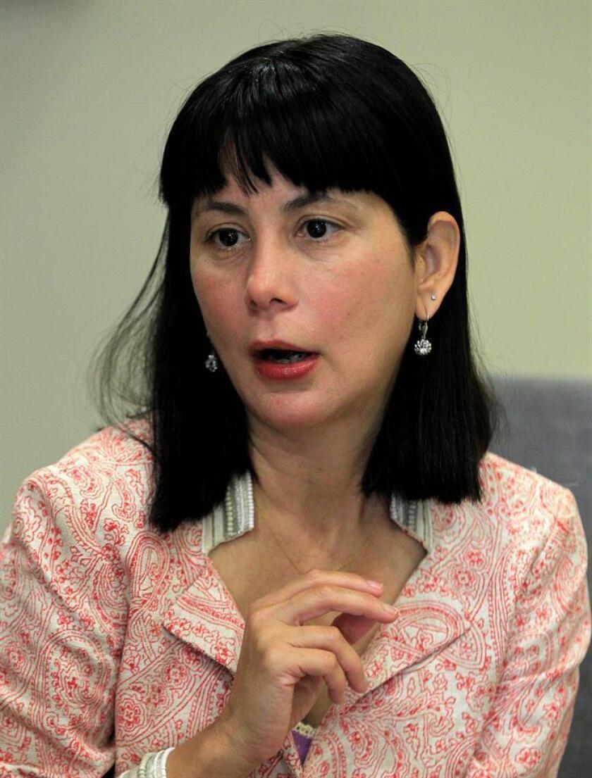 Fotografía de la escritora cubana Wendy Guerra durante una entrevista con Efe, en Ciudad de México (México). EFE
