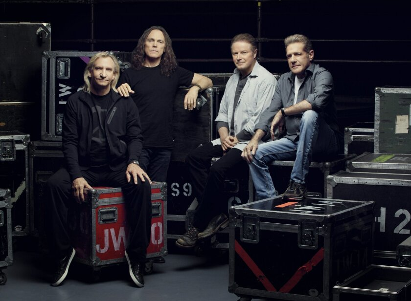 The Eagles from left: Joe Walsh, Timothy B. Schmit, Don Henley and Glenn Fry. Phorto by James Glader