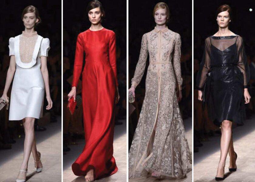 Paris Fashion Week 2013: Valentino's 'Downton' movement
