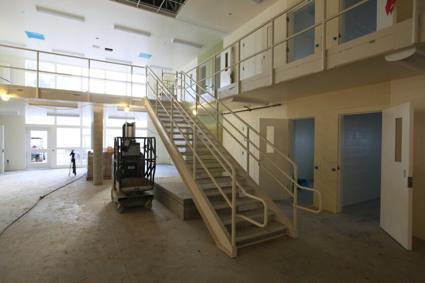 Sheriff's officials gave a tour of the $270 million women's jail being built in Santee, next to the old Las Colinas Detention Facility. It will house 1,200 inmates, who will be moved in this summer.