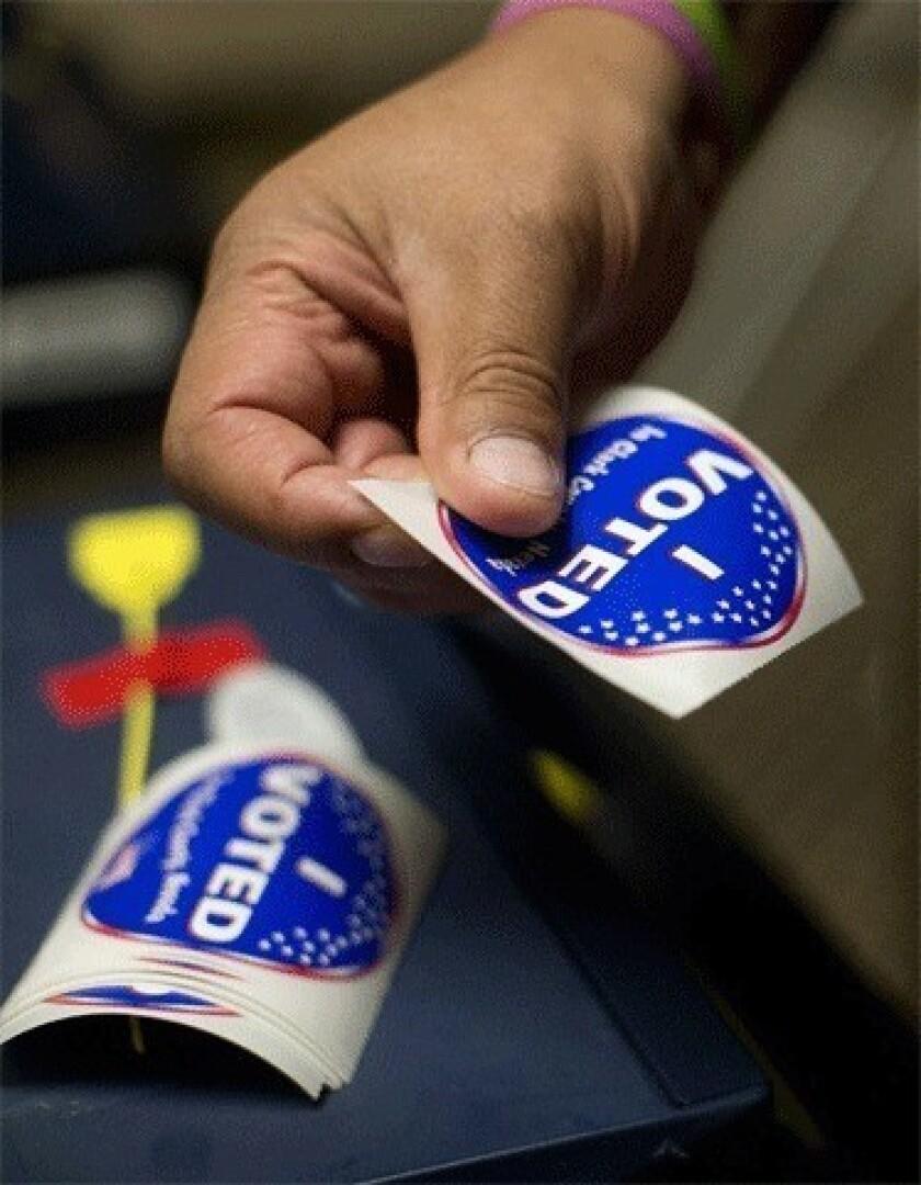 One vote, in person