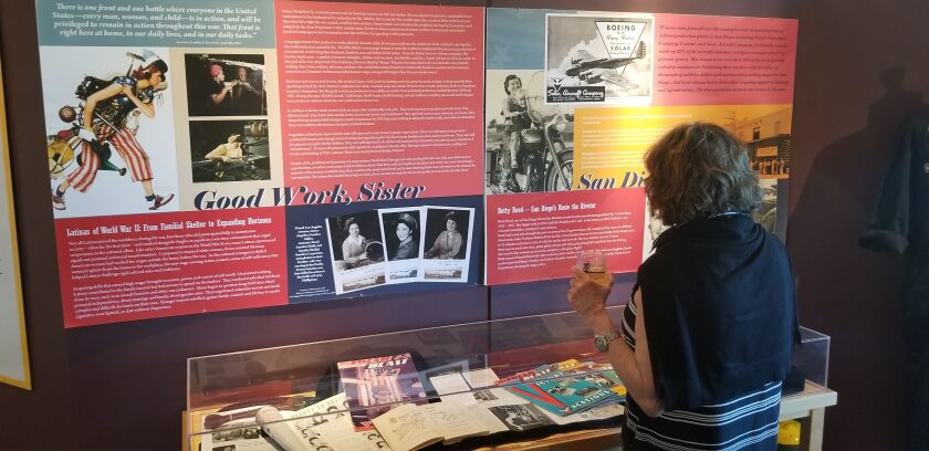 A guest reads about the bravery of women on the homefront during World War II, such as Betty Reed, San Diego's Rosie the Riveter, the first woman on record to complete a solo glider flight.