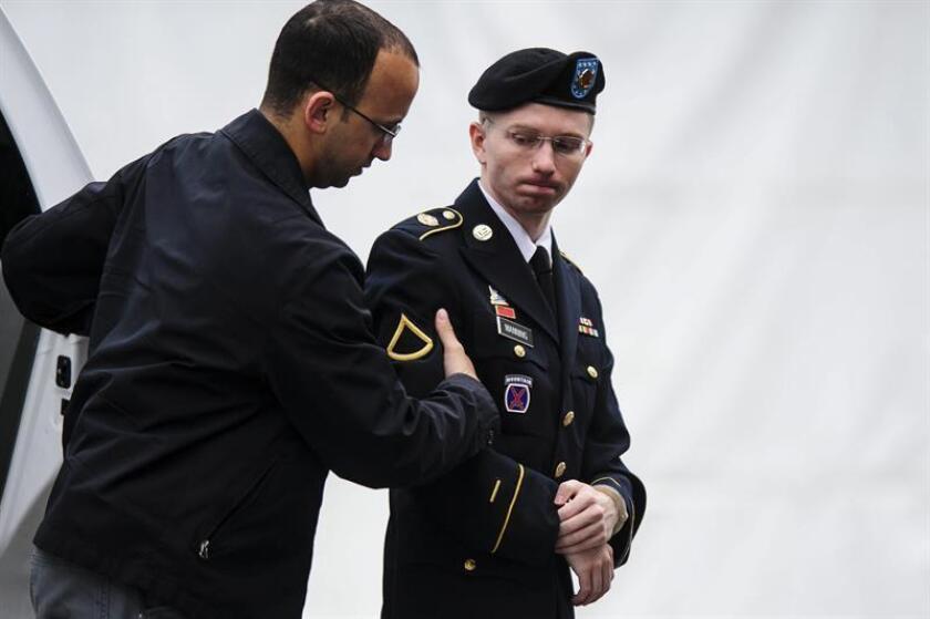 El soldado estadounidense Bradley Manning, ahora llamado Chelsea, acusado de entregar información clasificada a Wikileaks. EFE/Archivo