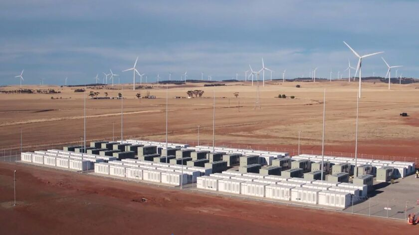 Tesla's 100-megawatt battery in Jamestown, Australia