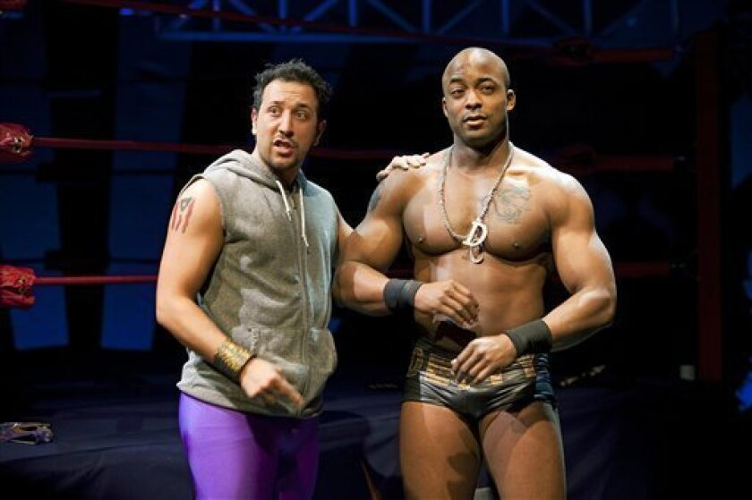 """A scene from the off-Broadway production of """"The Elaborate Entrance of Chad Deity"""" at Second Stage Theatre in New York. Ion Theatre will stage the play's San Diego premiere this fall."""