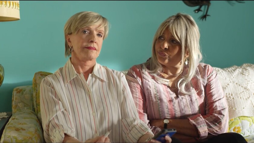 """(L-R) - Florence Henderson and Pam Grier in a scene from the movie """"Bad Grandmas."""" Credit: Parade D"""