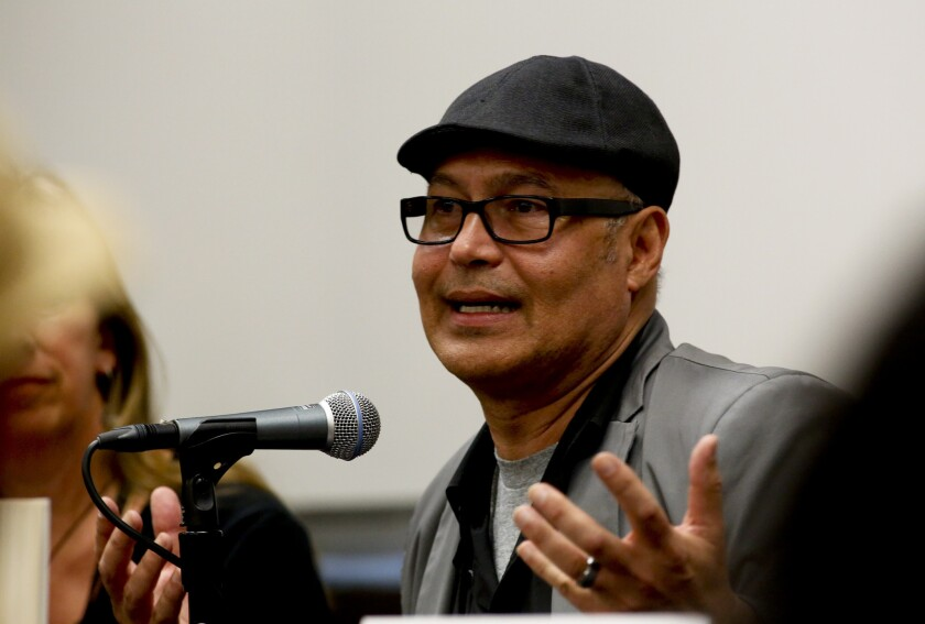 "Eduardo Santiago talks about his book ""Midnight Rumba"" during ""Fiction: Writing Character & Culture"" on Sunday."