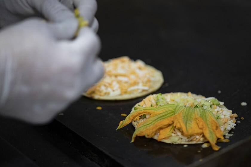 Squash blossom quesadilla from Tehuanita 2.0