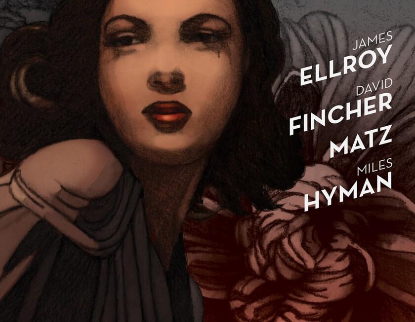 "The cover of ""The Black Dahlia"" graphic novel."