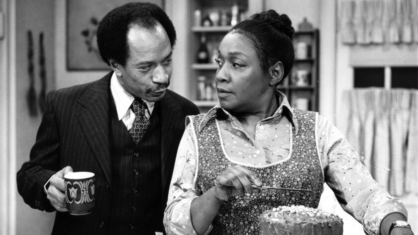 "Sherman Hemsley and Isabel Sanford in ""The Jeffersons."""