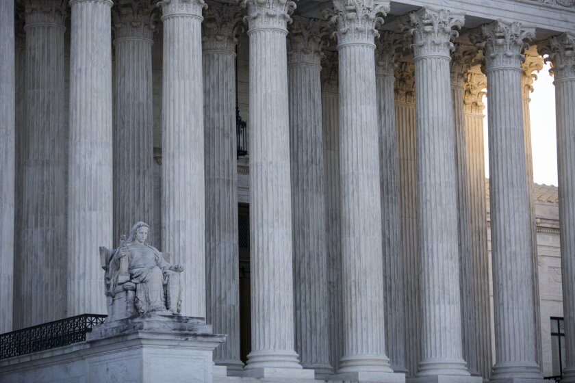 A view of the Supreme Court building in Washington on Jan. 16.